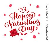 happy valentine's day. vector... | Shutterstock .eps vector #1009017793