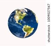 planet earth on white...   Shutterstock . vector #1009027567