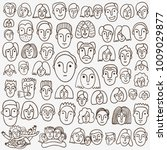 Faces Of People   Hand Drawn...