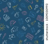 school seamless pattern with... | Shutterstock . vector #1009030993