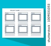 storyboard template in form of... | Shutterstock . vector #1009031053