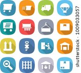 flat vector icon set   delivery ... | Shutterstock .eps vector #1009033057