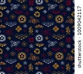 asian pattern. kabuki. japanese ... | Shutterstock .eps vector #1009042117