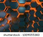 orange and blue scifi...   Shutterstock . vector #1009055383