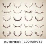 collection of vintage laurel... | Shutterstock .eps vector #1009059163