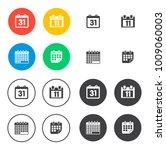 calendar icons set   Shutterstock .eps vector #1009060003