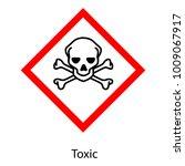 raster illustration ghs hazard... | Shutterstock . vector #1009067917
