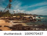 indian ocean coast with stones... | Shutterstock . vector #1009070437