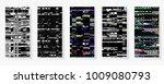 glitch backgrounds set. mobile... | Shutterstock .eps vector #1009080793