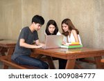 asian student concentrate about ... | Shutterstock . vector #1009084777