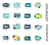 set of abstract banners in flat ... | Shutterstock .eps vector #1009087603