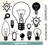 set of light bulbs icons | Shutterstock .eps vector #100909147