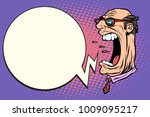 angry boss screaming  the giant ... | Shutterstock .eps vector #1009095217