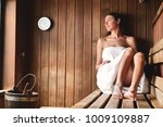 a beautiful woman wearing a...   Shutterstock . vector #1009109887