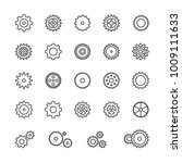 gear icons  thin vector icon...   Shutterstock .eps vector #1009111633