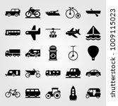 transport vector icon set.... | Shutterstock .eps vector #1009115023