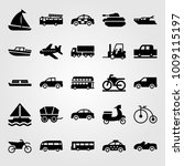 transport vector icon set.... | Shutterstock .eps vector #1009115197
