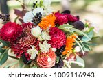 girl with a bouquet of flowers  ...   Shutterstock . vector #1009116943