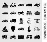 transport vector icon set....   Shutterstock .eps vector #1009121113