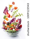 tasty mixed salad with fresh... | Shutterstock . vector #1009123543