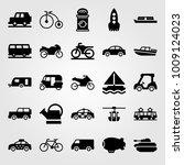 transport vector icon set. van  ... | Shutterstock .eps vector #1009124023