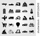 transport vector icon set. jeep ... | Shutterstock .eps vector #1009126543