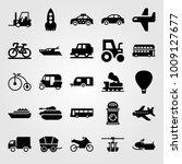 transport vector icon set....   Shutterstock .eps vector #1009127677
