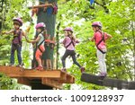 the obstacle course in... | Shutterstock . vector #1009128937