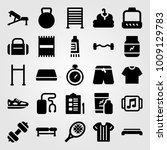 fitness vector icon set. shoes  ... | Shutterstock .eps vector #1009129783