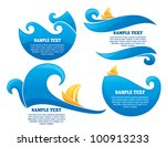 summer wave  vector collection... | Shutterstock .eps vector #100913233