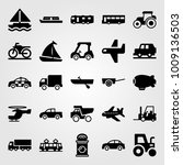 transport vector icon set. boat ... | Shutterstock .eps vector #1009136503