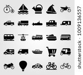 transport vector icon set. car  ... | Shutterstock .eps vector #1009136557