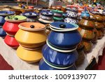 colorful ceramic pots | Shutterstock . vector #1009139077