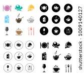 restaurant icons set | Shutterstock .eps vector #1009140127