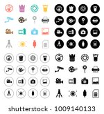 photography icons set | Shutterstock .eps vector #1009140133