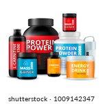 sport fitness food supplements... | Shutterstock .eps vector #1009142347