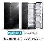 refrigerator organization... | Shutterstock .eps vector #1009142377