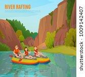 river rafting people... | Shutterstock .eps vector #1009142407