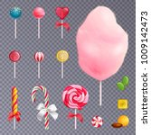 set of realistic sweets... | Shutterstock .eps vector #1009142473