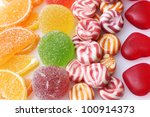 colorful jelly candies... | Shutterstock . vector #100914373