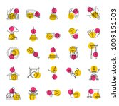 thailand line icons set... | Shutterstock .eps vector #1009151503
