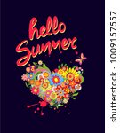 t shirt print with colorful... | Shutterstock .eps vector #1009157557