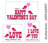 valentines day vector graphics... | Shutterstock .eps vector #1009160947