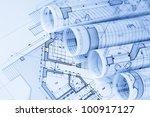 rolls of architecture... | Shutterstock . vector #100917127