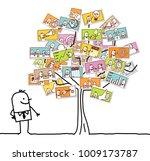 cartoon man watching a...   Shutterstock . vector #1009173787