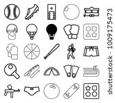 recreation icons. set of 25...   Shutterstock .eps vector #1009175473
