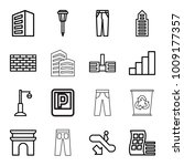urban icons. set of 16 editable ... | Shutterstock .eps vector #1009177357