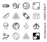 Leisure Icons. Set Of 16...