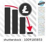 litecoin falling acceleration... | Shutterstock .eps vector #1009185853