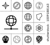 geography icons. set of 13... | Shutterstock .eps vector #1009188163